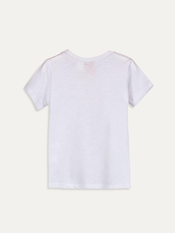 %100 Pamuk Baskılı Kısa Kol Tişört Bisiklet Yaka Normal Erkek Bebek Mickey Mouse Baskılı Tişört