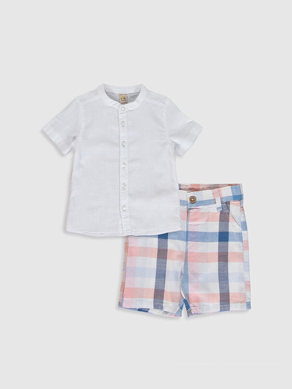 Beyaz Erkek Bebek Gömlek ve Şort 9SB810Z1 LC Waikiki