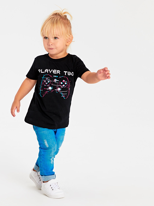 Erkek Bebek Unisex Bebek Desenli Pamuklu Tişört