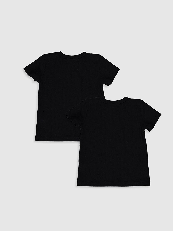 %100 Pamuk Normal Baskılı Kısa Kol Tişört Bisiklet Yaka Erkek Bebek Yazı Baskılı Tişört 2'li