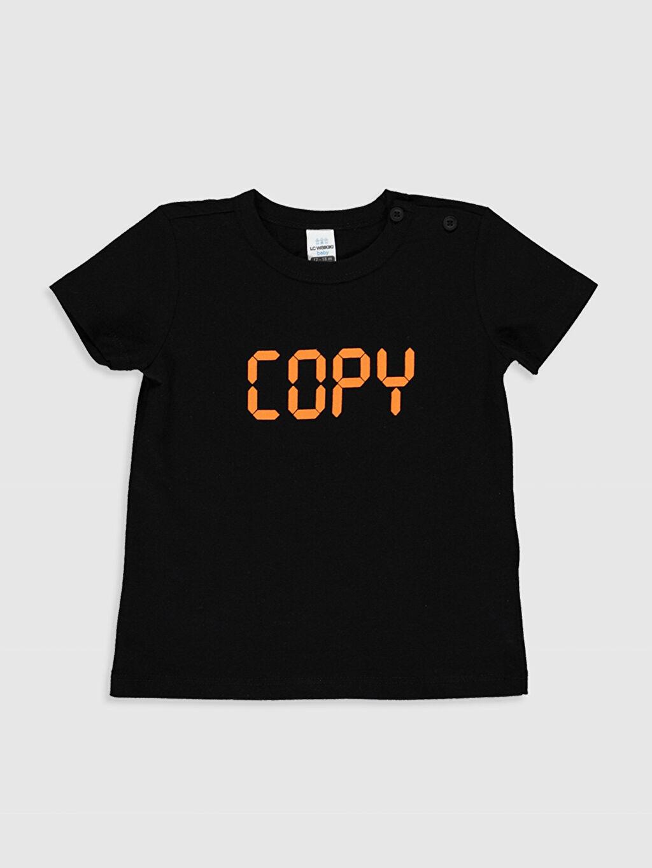 Erkek Bebek Erkek Bebek Yazı Baskılı Tişört 2'li