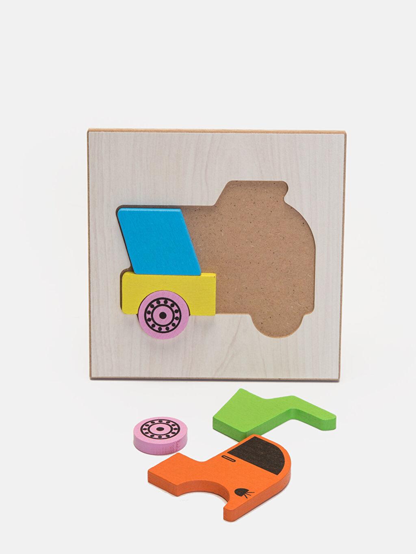 %100 Ahşap  Erkek Bebek Eğitici Oyuncak Puzzle