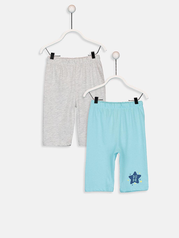 Gri Erkek Bebek Pijama Alt 2'li  9SC770Z1 LC Waikiki