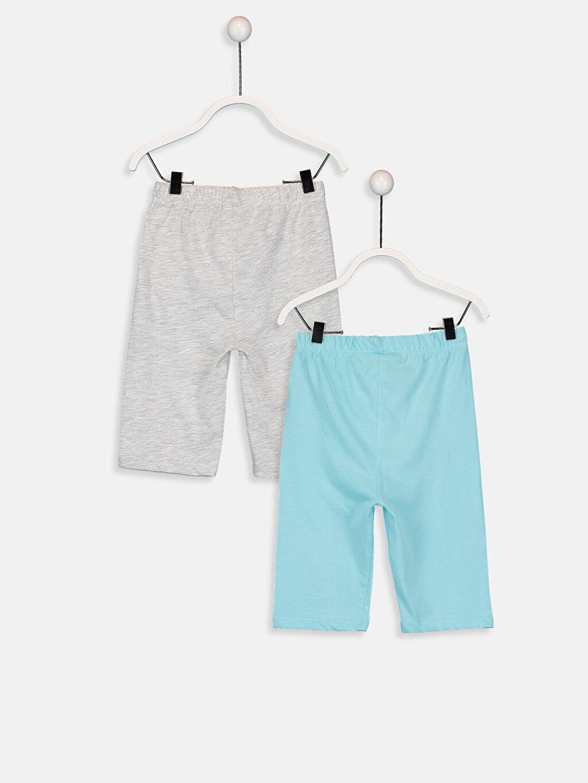 %98 Pamuk %2 Polyester Standart Pijamalar Erkek Bebek Pijama Alt 2'li