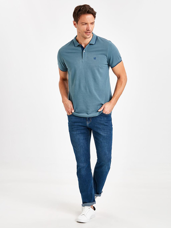 Erkek Polo Yaka Basic Kısa Kollu Pike Tişört