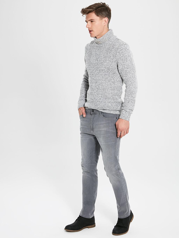 %99 Pamuk %1 Elastan Normal Bel Normal Jean 779 Regular Fit Jean Pantolon