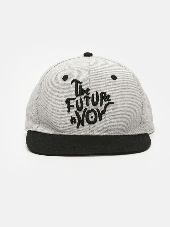 %40 Pamuk %50 Polyester %10 Viskoz  Yazı Baskılı Şapka