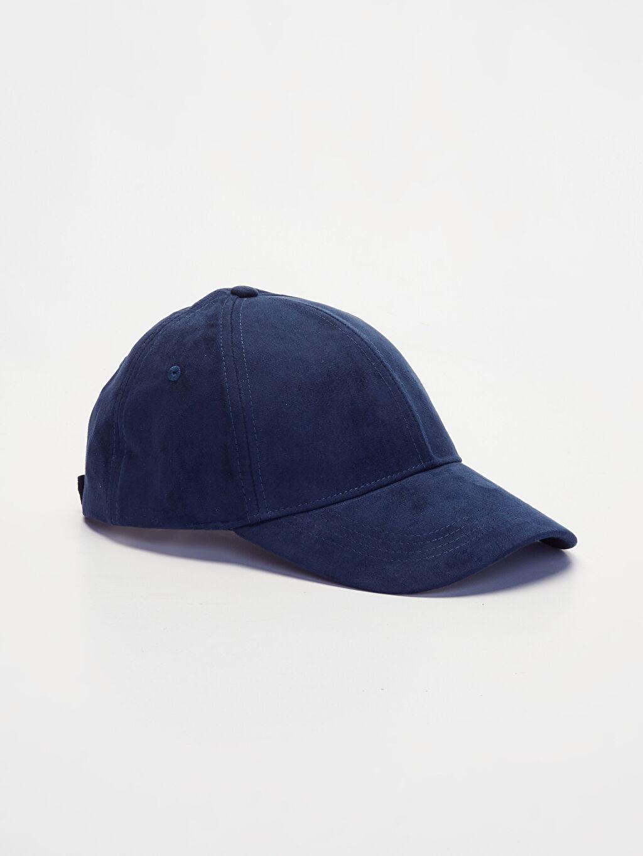 Lacivert Süet Şapka 9W0305Z8 LC Waikiki