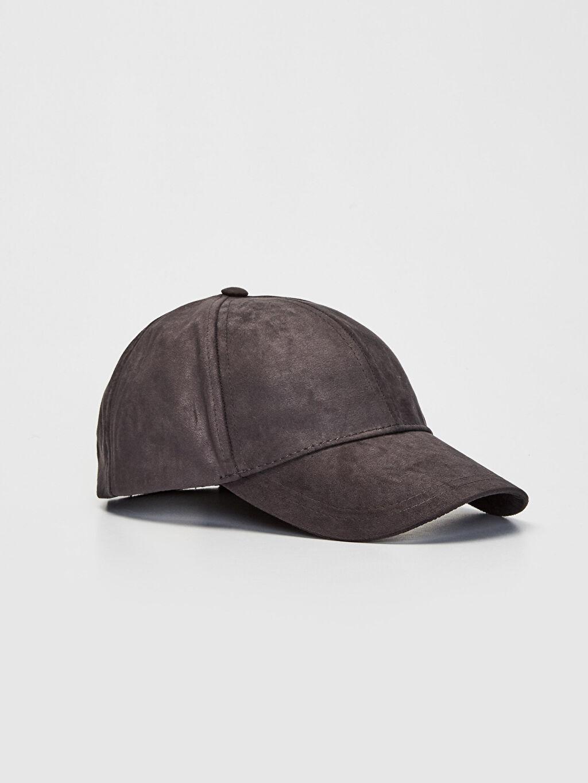 Antrasit Süet Şapka 9W0305Z8 LC Waikiki