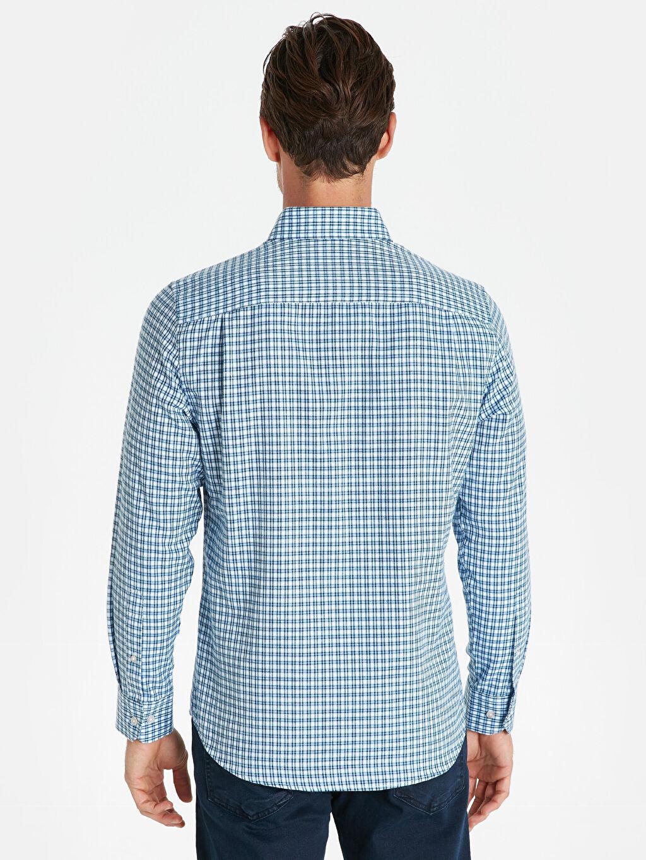 Erkek Regular Fit Ekose Uzun Kollu Gömlek