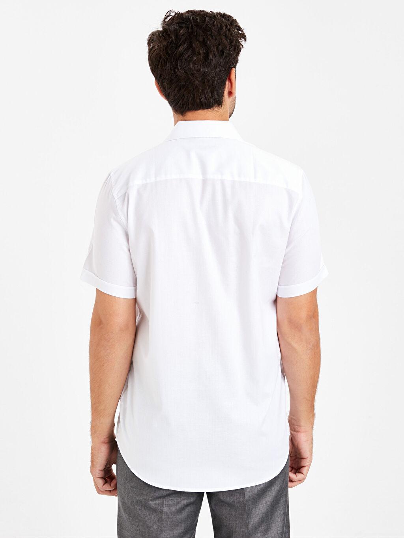 Erkek Regular Fit Kısa Kollu Armürlü Gömlek