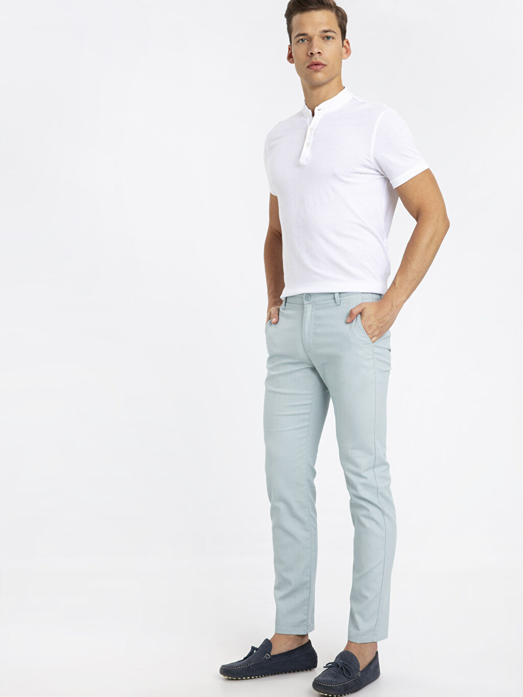 Mavi Slim Fit Dokulu Pantolon 9W0777Z8 LC Waikiki