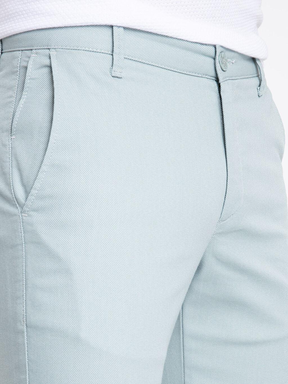 %71 Pamuk %26 Polyester %3 Elastan Slim Fit Dokulu Pantolon
