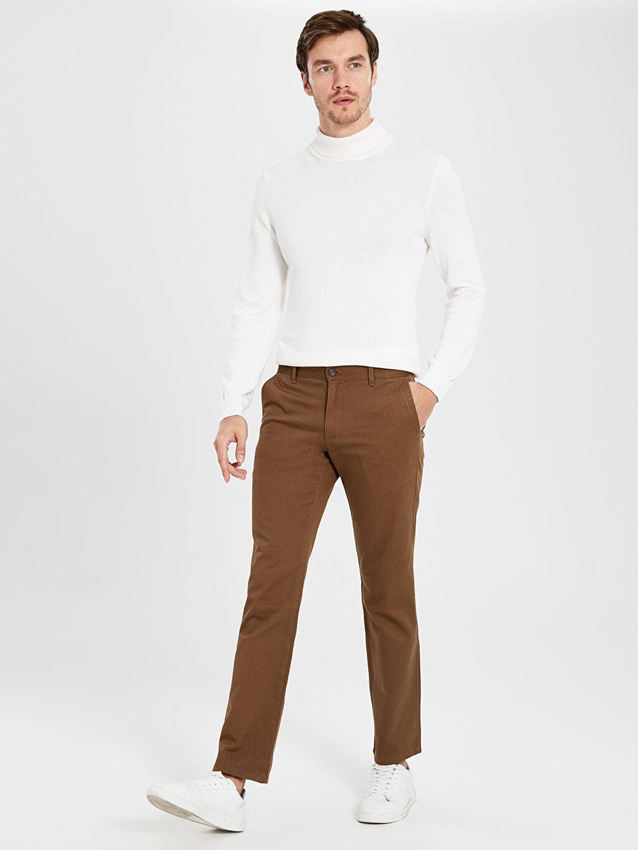 %100 Pamuk  Normal Kalıp Gabardin Chino Pantolon