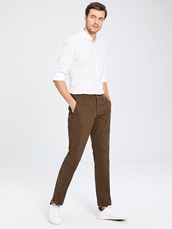 Erkek Normal Kalıp Gabardin Chino Pantolon