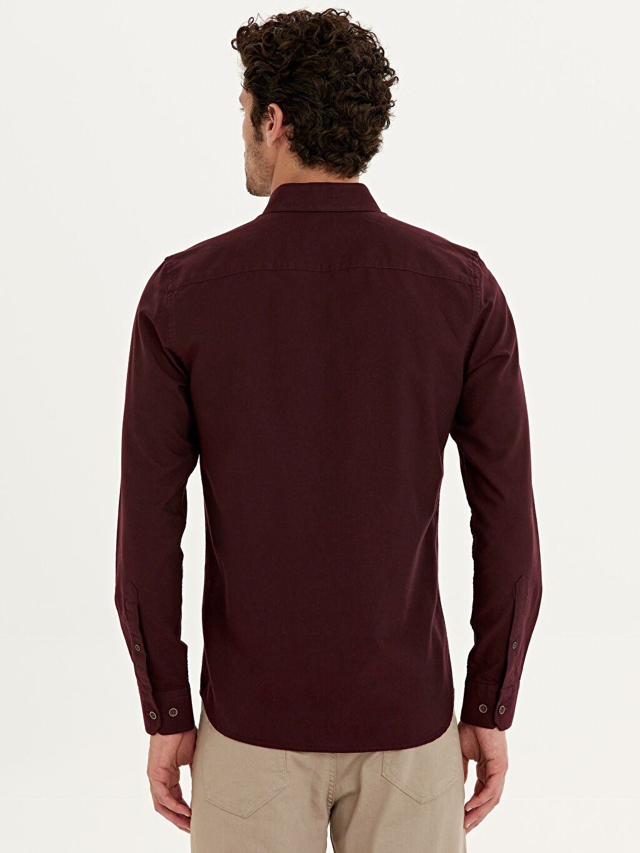Erkek Slim Fit Oxford Basic Gömlek