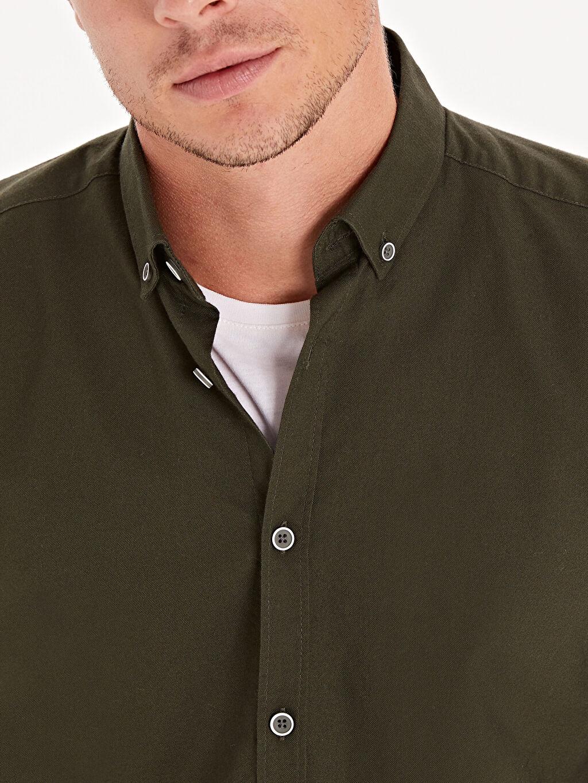 %100 Pamuk Slim Fit Oxford Basic Gömlek