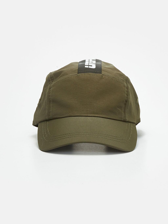 %100 Poliamid  Yazı Baskılı Şapka