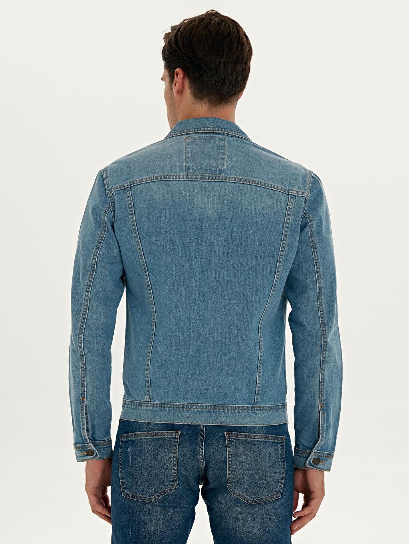%100 Pamuk  Regular Fit Jean Ceket