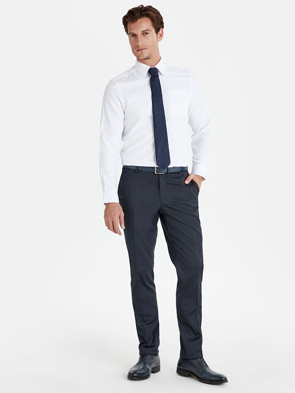Lacivert Dar Kalıp Takım Elbise Pantolonu 9W1965Z8 LC Waikiki