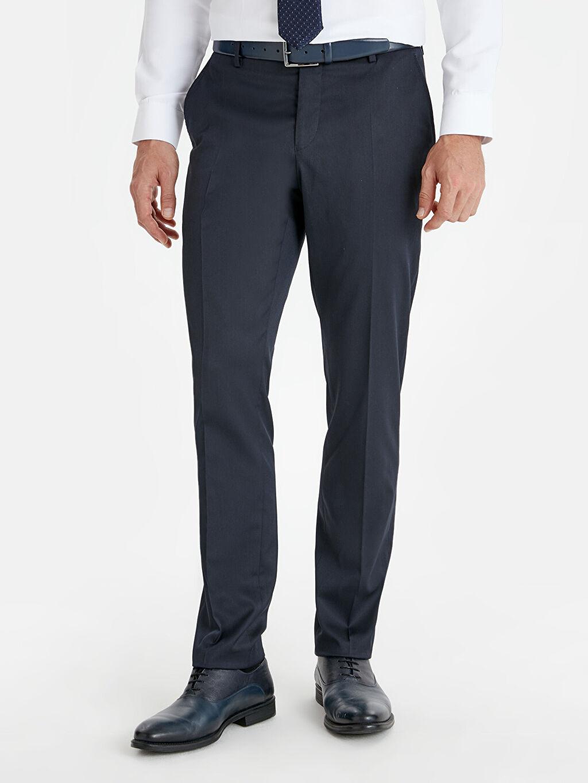 %73 Polyester %3 Elastan %24 Viskoz %100 Polyester Normal Bel Dar Pileli Dar Kalıp Takım Elbise Pantolonu