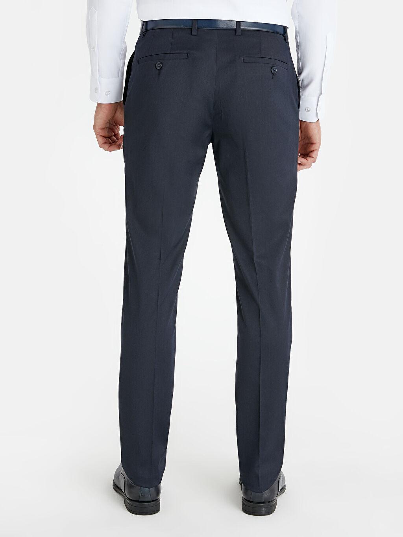 Erkek Dar Kalıp Takım Elbise Pantolonu