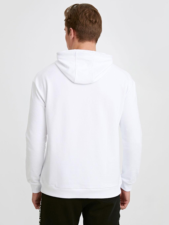 %73 Pamuk %27 Polyester   Kapüşonlu Basic Kalın Sweatshirt