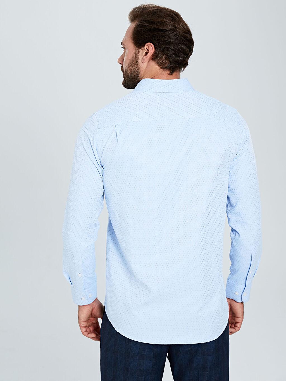 %54 Pamuk %46 Polyester Regular Fit Desenli Uzun Kollu Gömlek