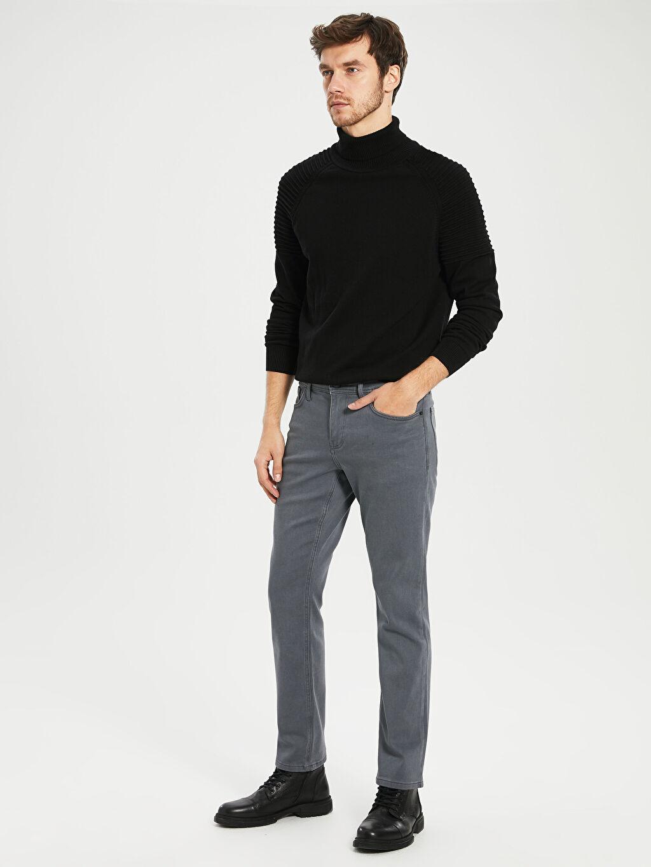 %64 Pamuk %23 Poliester %12 Vıscose %1 Elastane Normal Bel Normal Jean 879 Regular Fit Jean Pantolon