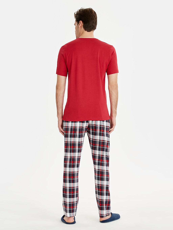 %100 Pamuk Standart Pijamalar Standart Kalıp Pamuklu Pijama Takım