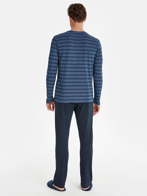 %61 Pamuk %39 Polyester Pijamalar Standart Standart Kalıp Pijama Takım
