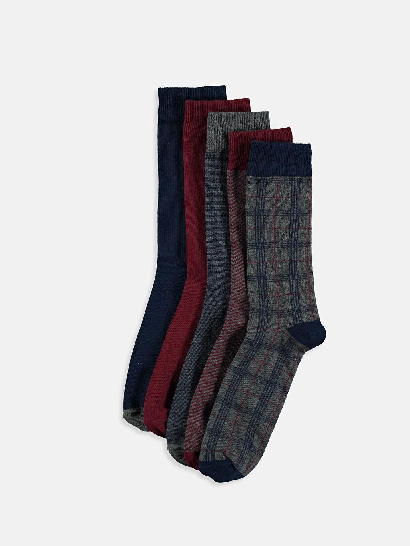 Çok Renkli Soket Çorap 5'li 9W6828Z8 LC Waikiki