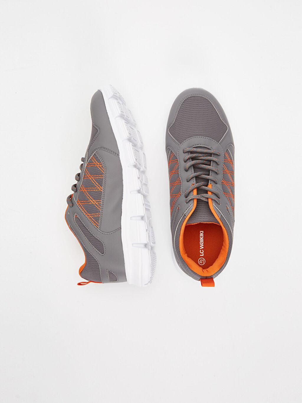 Tekstil malzemeleri Diğer malzeme (poliüretan)  Erkek Bağcıklı Spor Ayakkabı