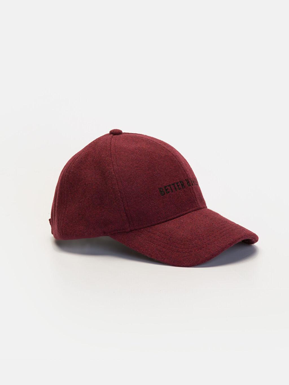 Turuncu Yazı Nakışlı Kaşe Şapka 9WG585Z8 LC Waikiki
