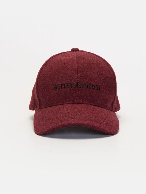 %85 Poliester %3 Yün %12 Akrilik  Yazı Nakışlı Kaşe Şapka