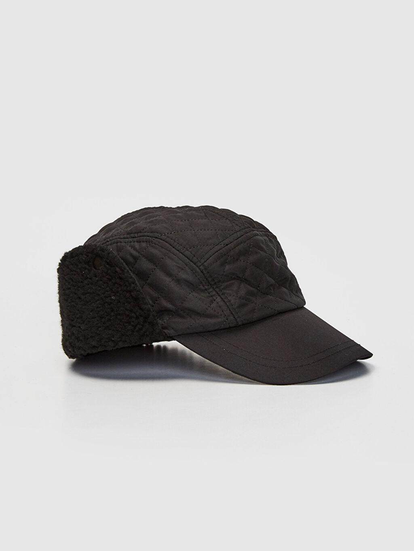 Siyah Kapitone Kulaklı Şapka 9WG586Z8 LC Waikiki