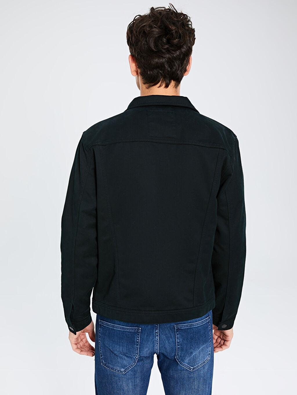 %78 Pamuk %22 Polyester Regular Fit Jean Ceket