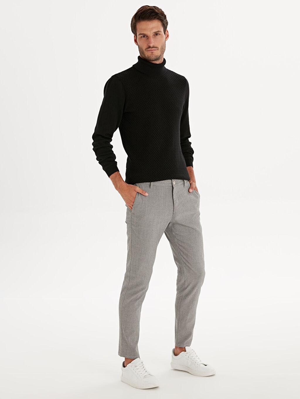 Gri Slim Fit Poliviskon Bilek Boy Pantolon 9WK921Z8 LC Waikiki