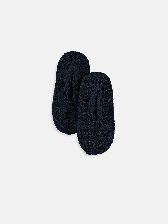 Mavi Kaydırmaz Tabanlı Ev Çorabı 9WL906Z8 LC Waikiki