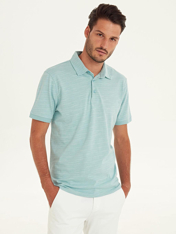 %100 Pamuk Düz Bol Kısa Kol Tişört Polo Polo Yaka Kısa Kollu Pamuklu Tişört