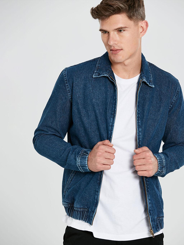 %100 Pamuk  Standart Kalıp Kısa Boy Jean Ceket