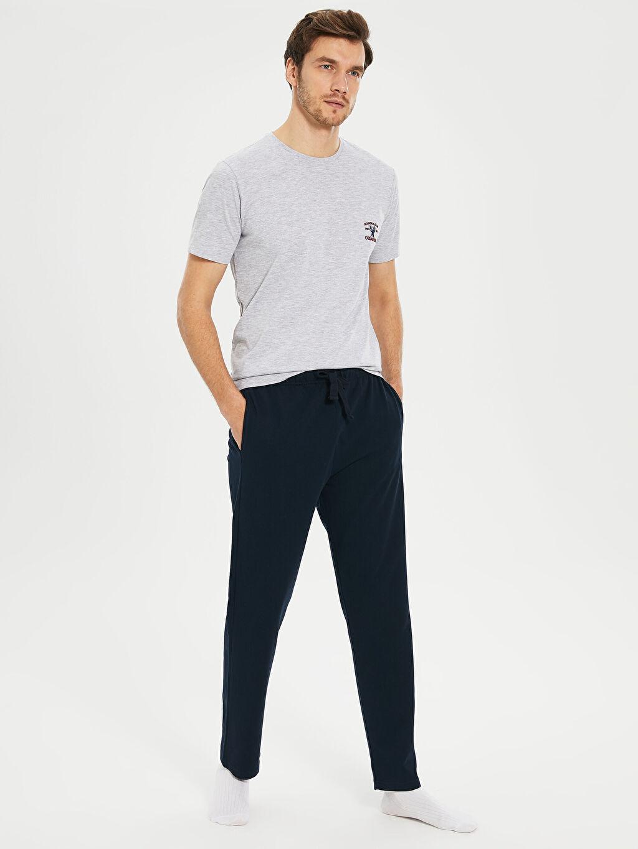%49 Pamuk %51 Polyester Standart Pijamalar Standart Kalıp Pijama Takımı