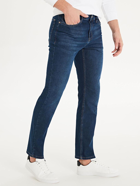 %78 Pamuk %20 Polyester %2 Elastan Normal Bel Normal Jean 879 Regular Fit Jean Pantolon