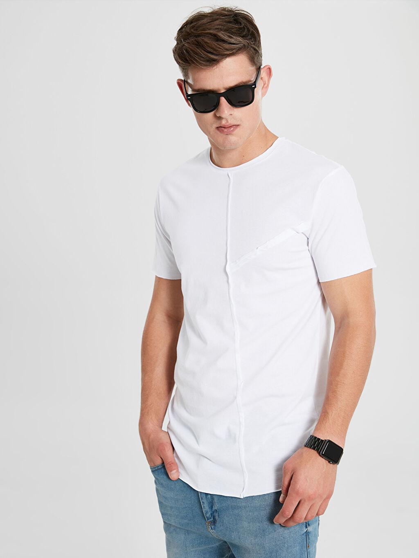 Beyaz Bisiklet Yaka Kısa Kollu Basic Tişört 9WR225Z8 LC Waikiki
