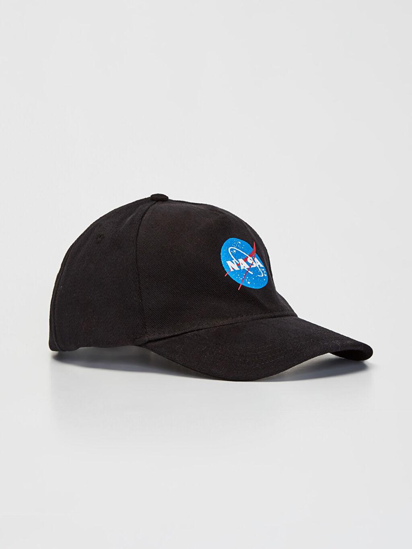 Siyah Nasa Logo Şapka 9WS181Z8 LC Waikiki