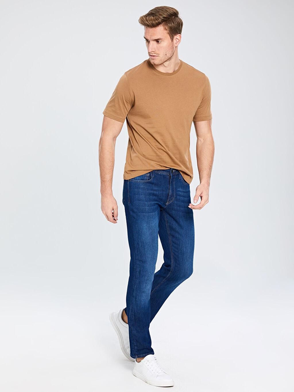 %94 Pamuk %5 Polyester %1 Elastan Normal Bel Normal Jean 879 Regular Fit Jean Pantolon