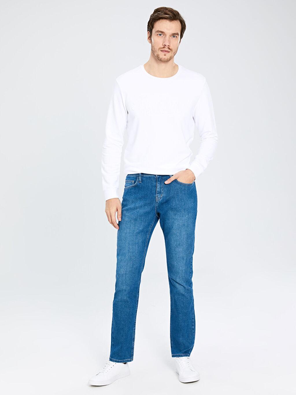 %95 Pamuk %4 Polyester %1 Elastan Normal Bel Normal Jean 879 Regular Fit Jean Pantolon