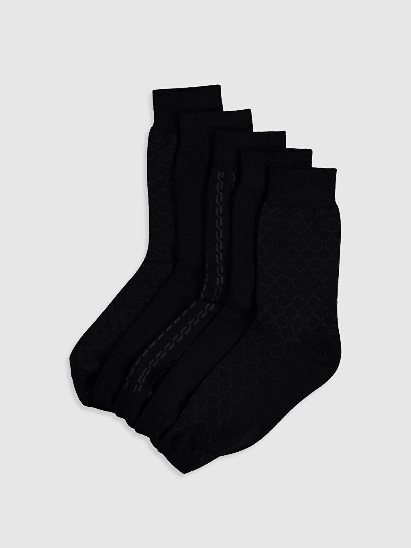 Çok Renkli Desenli Soket Çorap 5'li 9WS757Z8 LC Waikiki