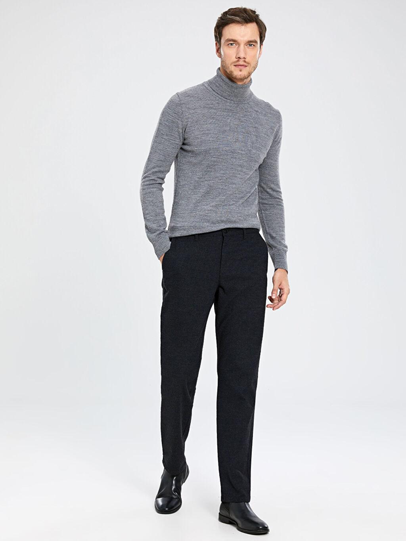 Erkek Siyah Normal Bel Pantolon