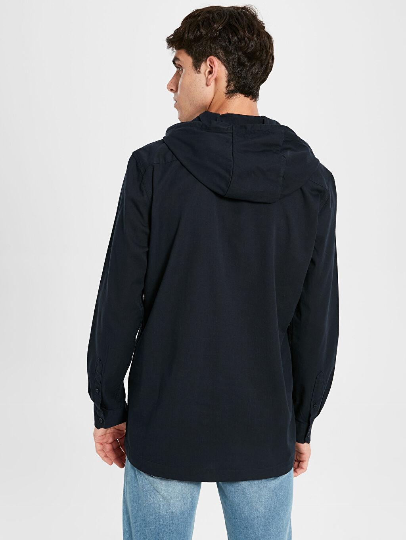 Erkek Kapüşonlu Basic Sweatshirt